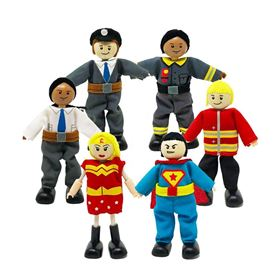 Set Personaggi Eroi Heroeshouse - MUtable Hape Toys